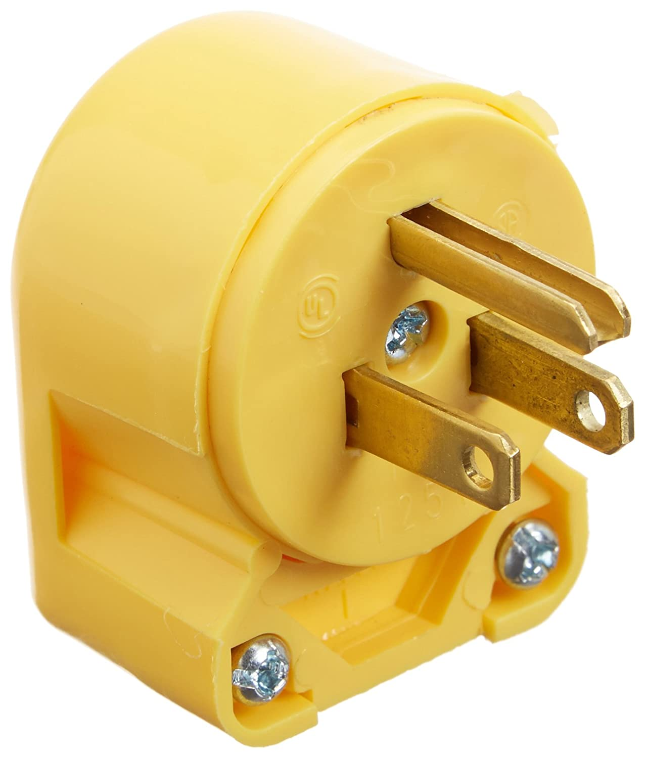 Eaton 4867an Box 15 Amp 3 Wire 125v Ac 2 Pole Heavy Duty Grade Vinyl Cooper Wiring Diagram Wall Pack Plug Yellow Electric Plugs