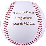 Amazon custom personalized baseball gifts for ring bearers gp personalized baseball gifts engraved ring bearer baseball for custom baby announcement gift negle Images