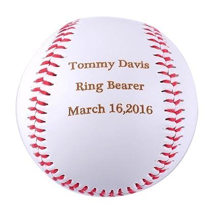 Amazon gp personalized baseball gifts engraved ring bearer gp personalized baseball gifts engraved ring bearer baseball for custom baby announcement gift negle Images
