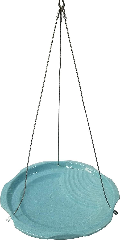 Dehner Natura Nona - Bebida para pájaros Silvestres, 27 cm de diámetro, 5 cm de Altura, Juguete de Piedra, Color Azul