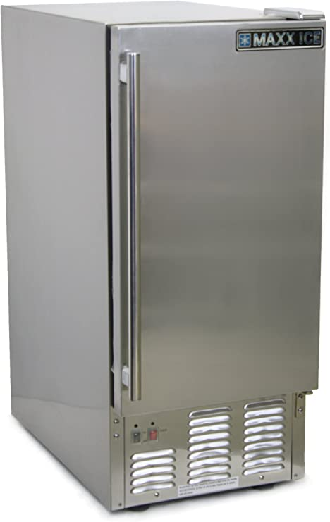 Maxx Ice MIM50-O Outdoor Self Contained Ice Maker, 50-Pound