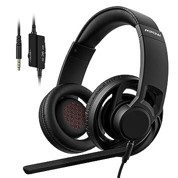 Auriculares Gaming, Mpow-EG5 Casco para Juegos, con Controles en el Cable, 3.5mm Conexión para PlayStation 4, Xbox One, PC, Nintendo Switch, VR, ...