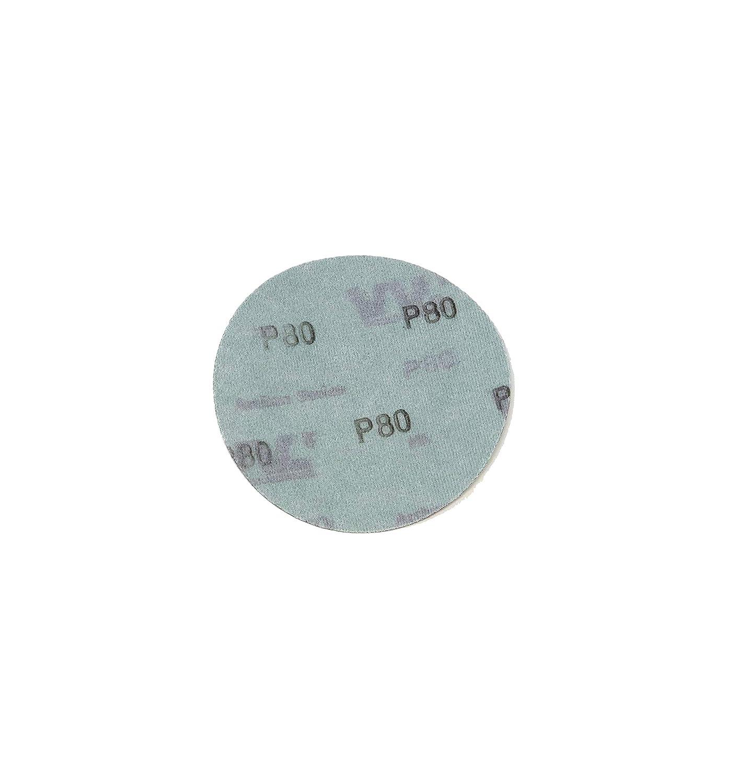 5-Inch No-Hole Sanding Discs Assortment Pack of 25 World Abrasive 5 Each of 800, 1000, 1200, 1500, 2000 Grits | Hook /& Loop Film Wet//Dry Sandpaper for Random Orbital Sanders ADSP5