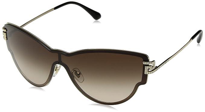 Versace Herren Sonnenbrille 0VE2150Q 134187, Gold (Gold/Gray), 62