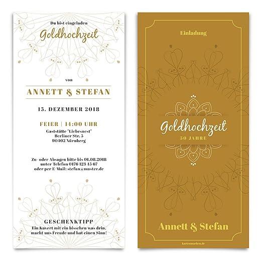 Boda Invitaciones Bodas De Oro Bodas De Oro Invitación