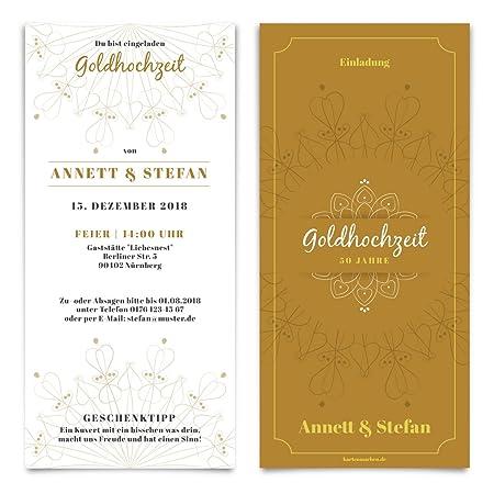 Boda invitaciones Bodas de Oro Bodas de Oro Invitación ...