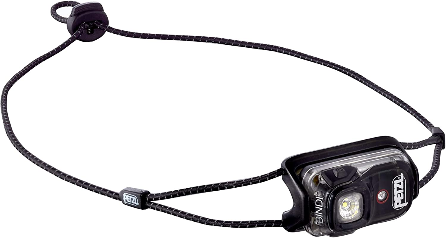 PETZL – Bindi, 200 Lumens, Ultralight, Rechargeable, and Compact Headlamp for Urban Running