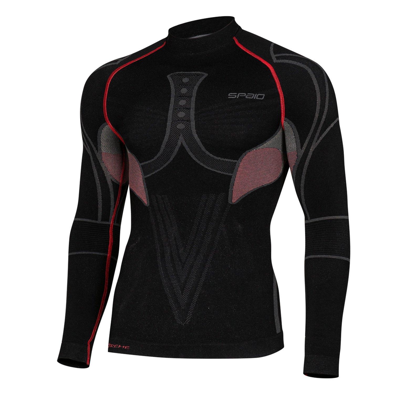 SPAIO  Extreme Line Herren Thermohemd Active Funktionsunterwäsche Skiunterwäsche T-Shirt lang