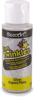 product image for DecoArt Craft Twinkle Paint, 2-Ounce, Silver