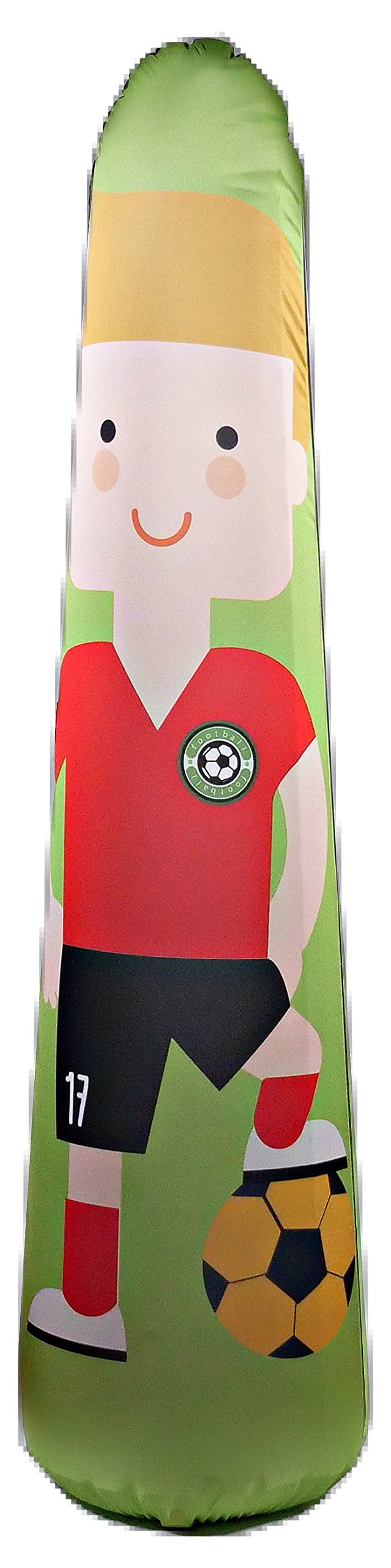 BONK FIT High Performance Polyurethane Inflatable Target, PVC-Free Pop Up Training Mannequin with One Year Warranty and Machine Washable Cover - Soccer 5ft by BONK FIT (Image #1)