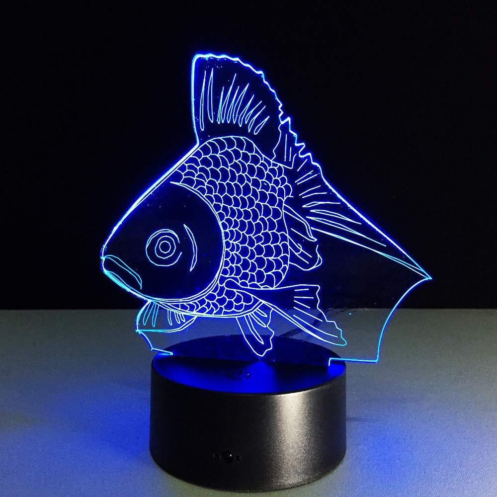 7 Farbwechsel Nachtlicht Goldfisch Sammeln Charizard 3d Led Tisch Schreibtischlampe Cartoon Abbildung Kinder Nachttischlampe