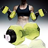 Easyinsmile Portable Dumbell 2.2L Large Capacity Sport Fitness Water Bottle Hydrate Drinking Bottle Dumbell Shape Water Bottle