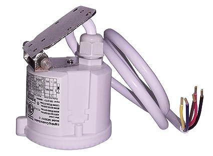 Interruptor de sensor de movimiento automático basado en movimiento y nivel de luz ambiental para garajes