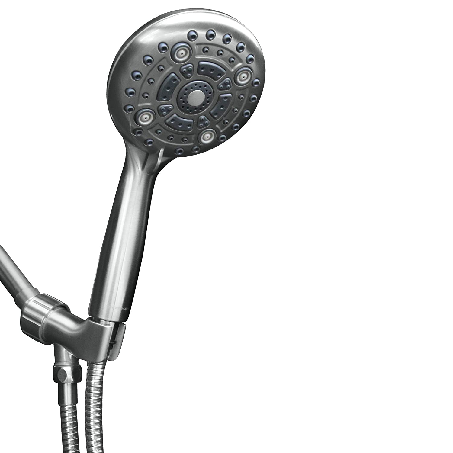 ShowerMaxx | Elite Series | 6 Spray Settings 5 inch Hand Held Shower Head | Extra Long Stainless Steel Hose |MAXX-imize with Easy-to-Remove Flow Restrictor Handheld Showerhead | Polished Chrome Finish
