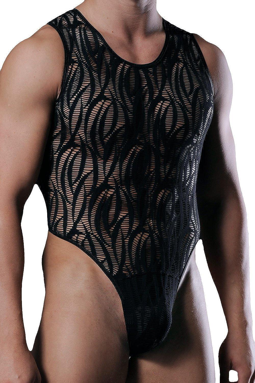 Manstore M292 Men's String All In One Body Black)