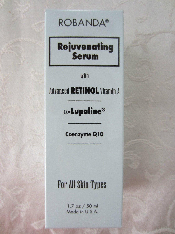 Robanda Rejuvenating Serum with Advanced Retinol Vitamin-a α-Lupaline Coenzyme Q10 (For All Skin Types) 1.7 0z