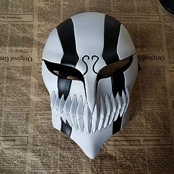 LXIANGP Máscara de Halloween Horror máscara de Muerte Negro Saki uno Cuidado Cara Completa Virtual Cara