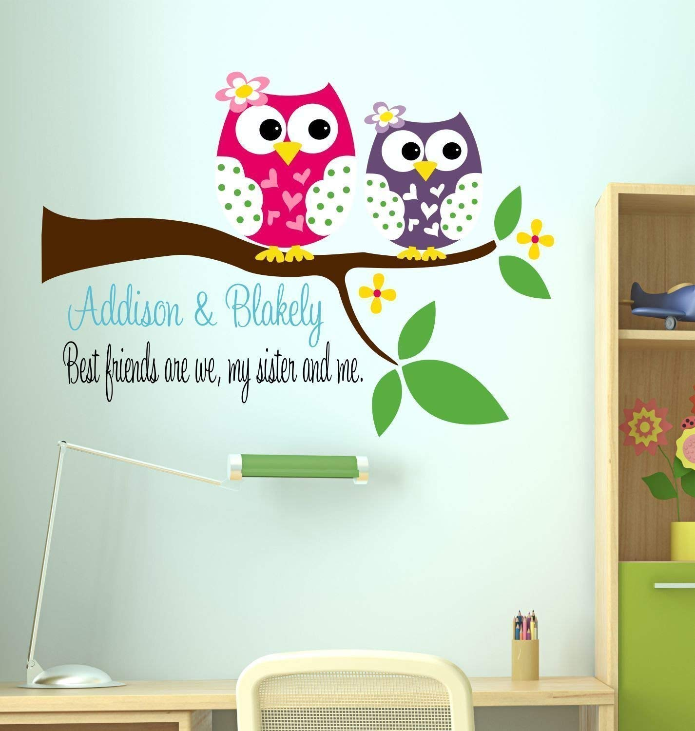 Amazon com best friends are we sister owls vinyl wall decal handmade