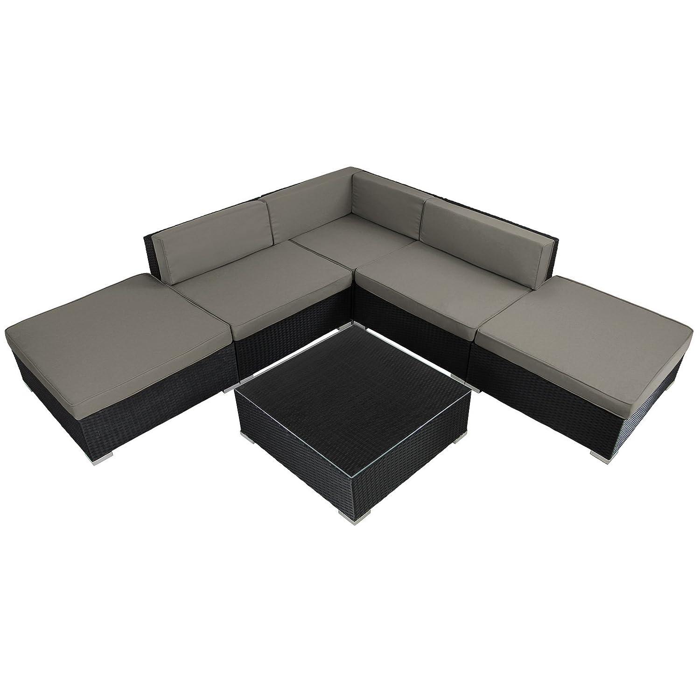 15-teilige Polyrattan-Lounge Gartengarnitur ARIZONA mit Kaffee-Tisch ...