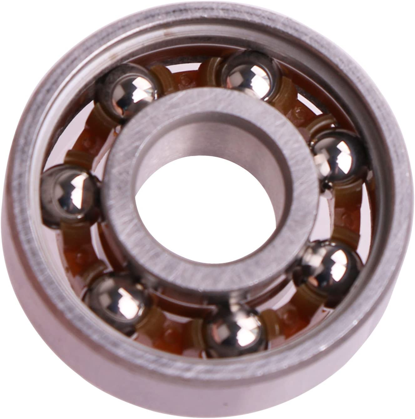Mini Skater Stainless Steel Bearings High Speed Replacement Bearing Use for Toy with 1.5~2 Minutes Rotating time