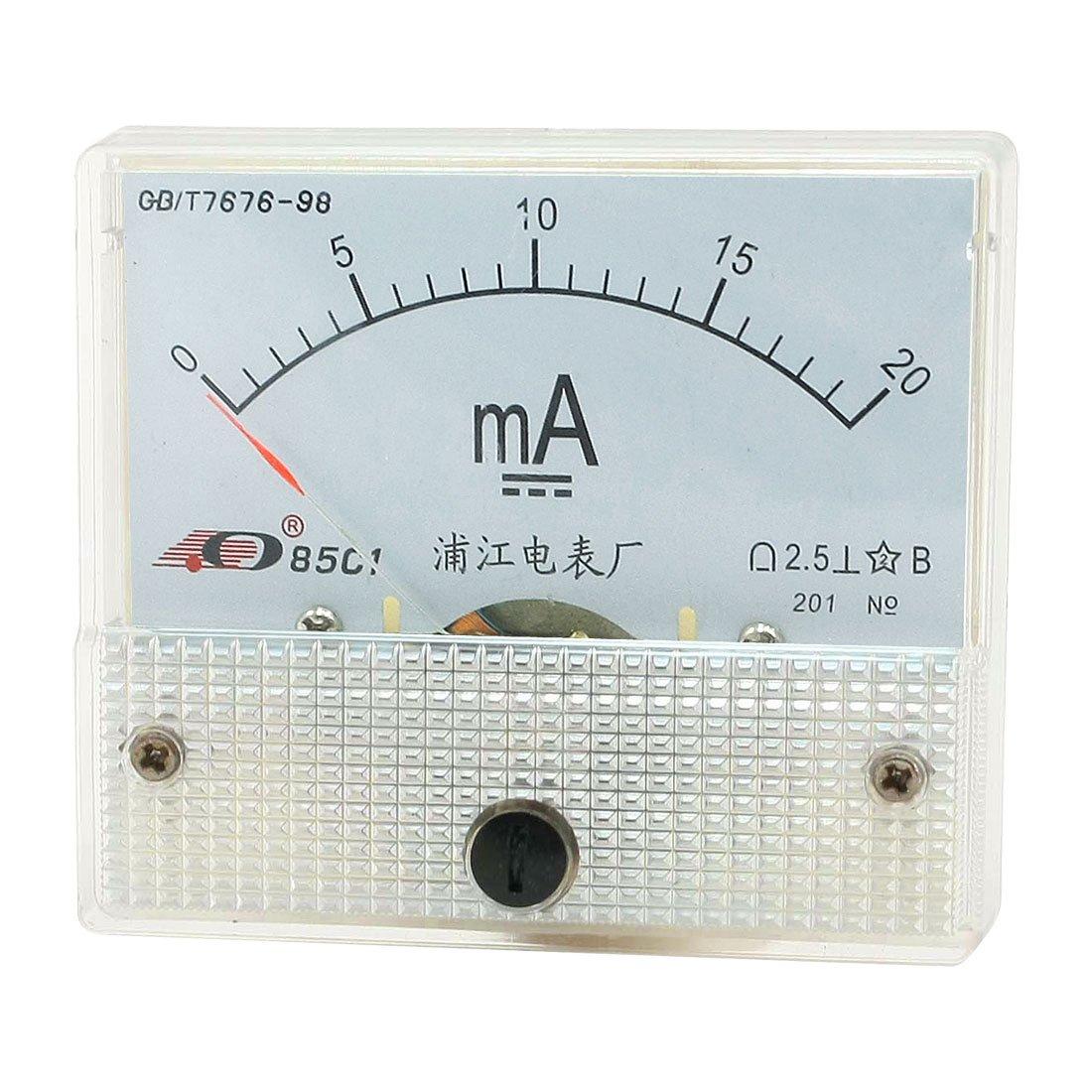 85C1 Amperemeter Analog Current Verst/ärker Panel Meter DC 0-20mA de