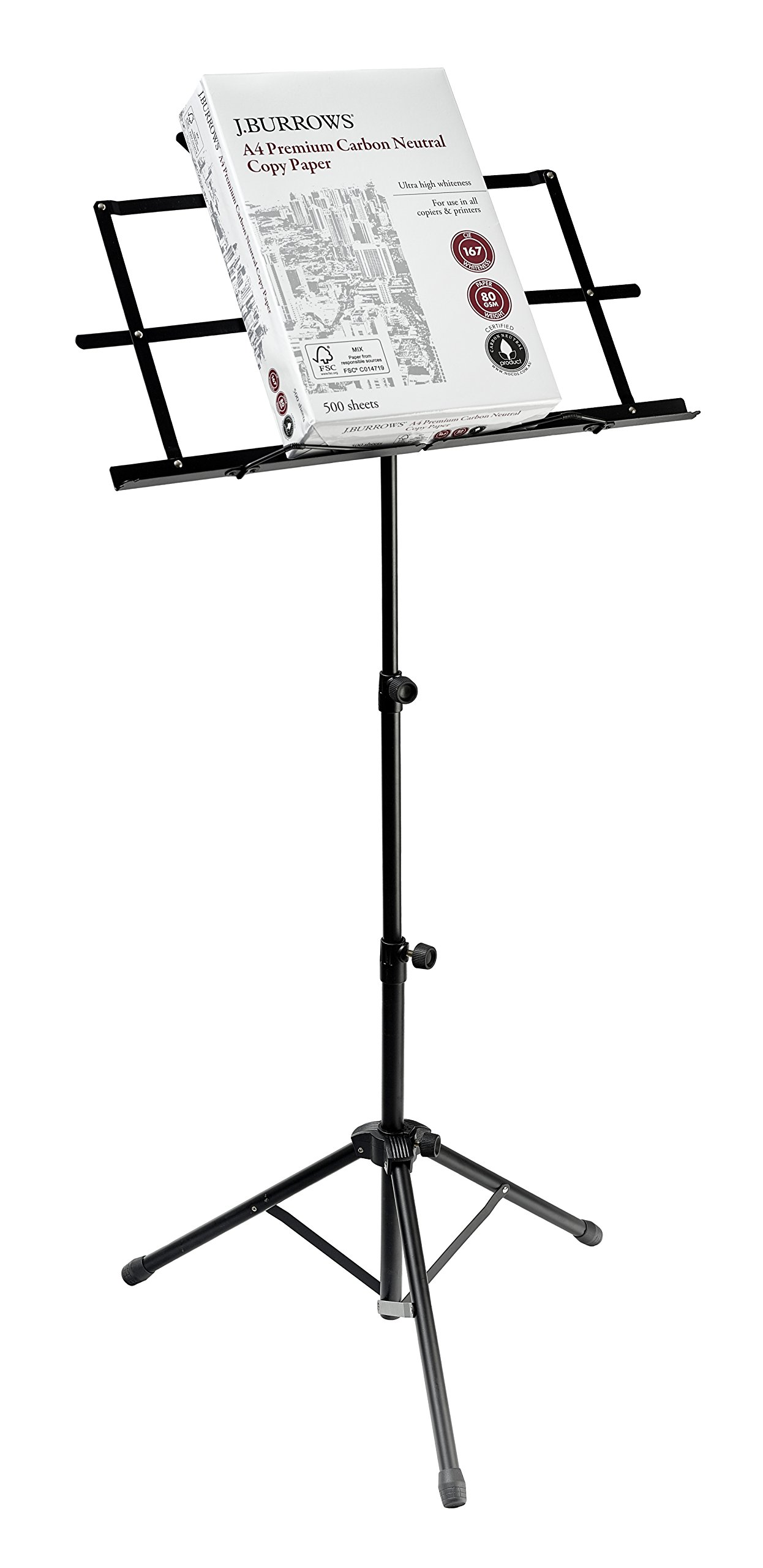 Be Sharpe Music Adjustable Folding Music Stand with a Carry Bag - Black