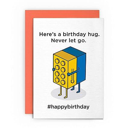 Tarjeta de cumpleaños divertida de Lego Retro Juguetes para ...