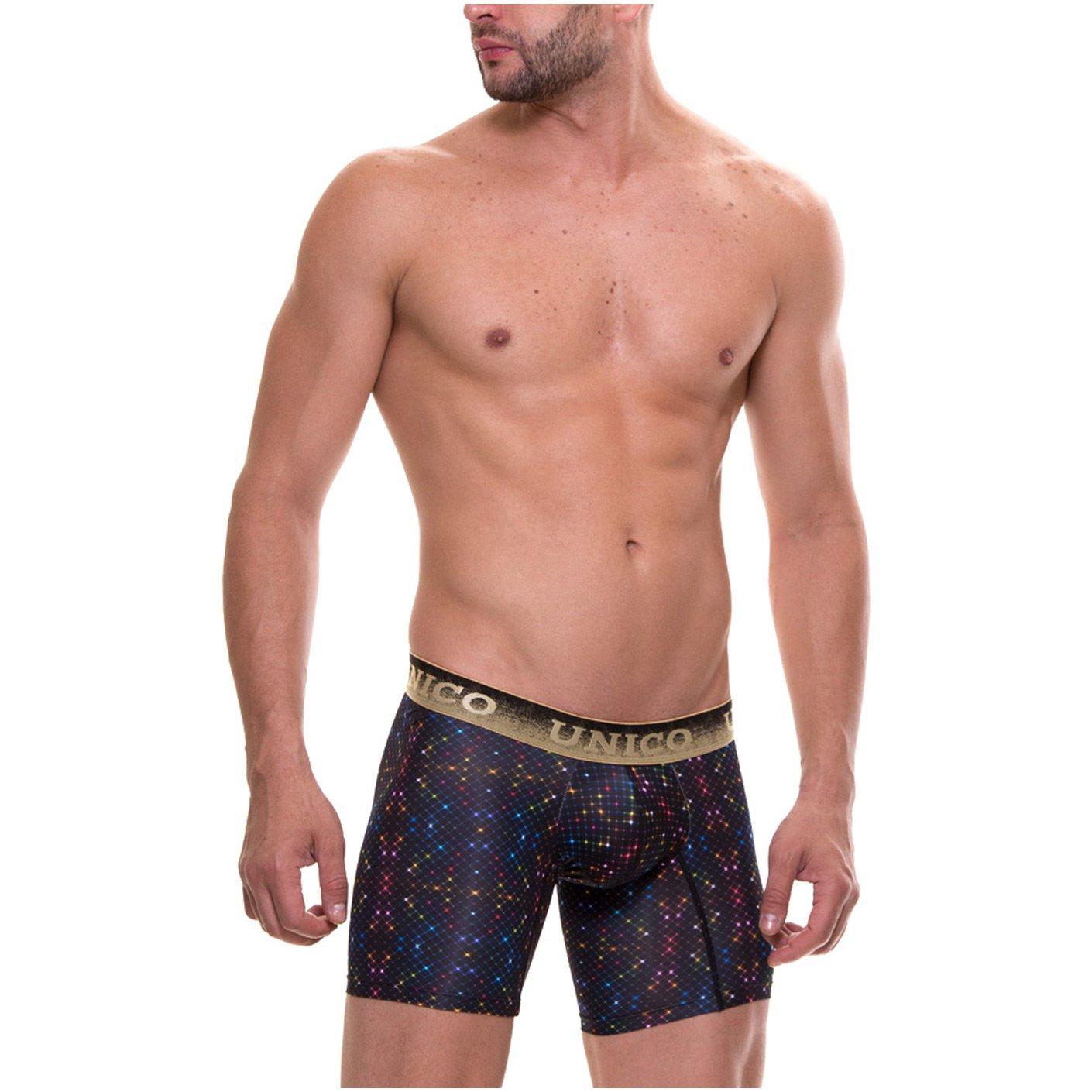 Mundo Unico Microfiber Medium Boxer Briefs for Men Print Ropa Interior Masculina