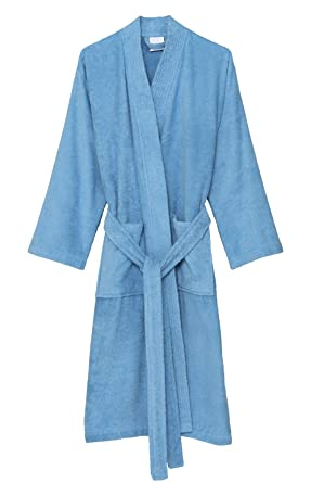 8a7ca9bcb2 TowelSelections Women s Robe Turkish Cotton Terry Kimono Bathrobe  X-Small Small Alaskan Blue