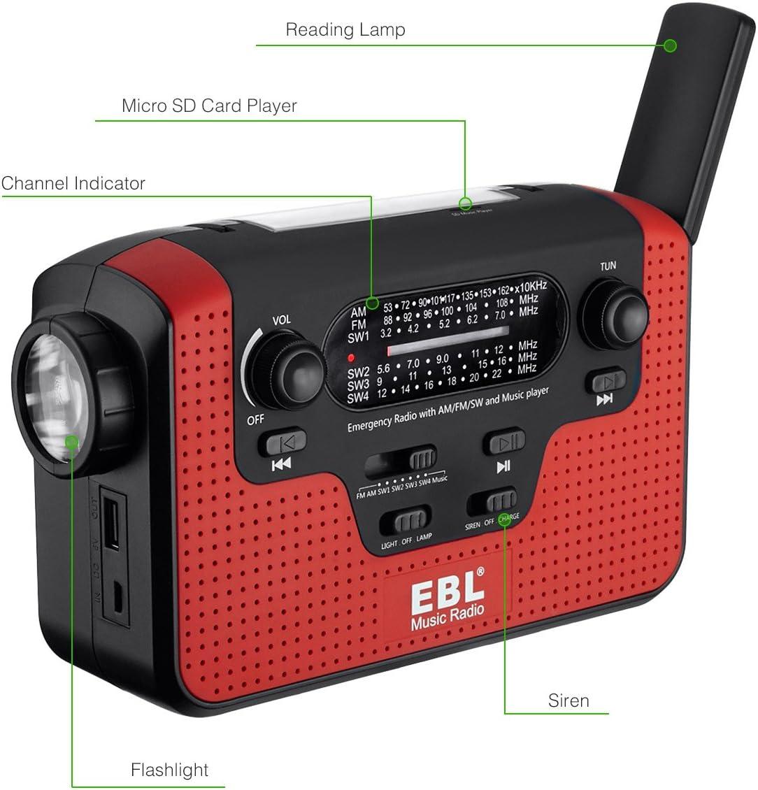 Portable Audio & Video Tiemahun NOAA Weather Alert Radio Solar ...
