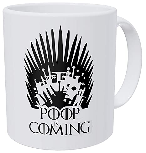 Amazon.com: Una taza para mantener – caca is coming – regalo ...