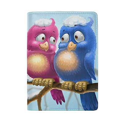 ColourLife Birds In The Branch Leather Passport Holder Cover for Men Women Kids