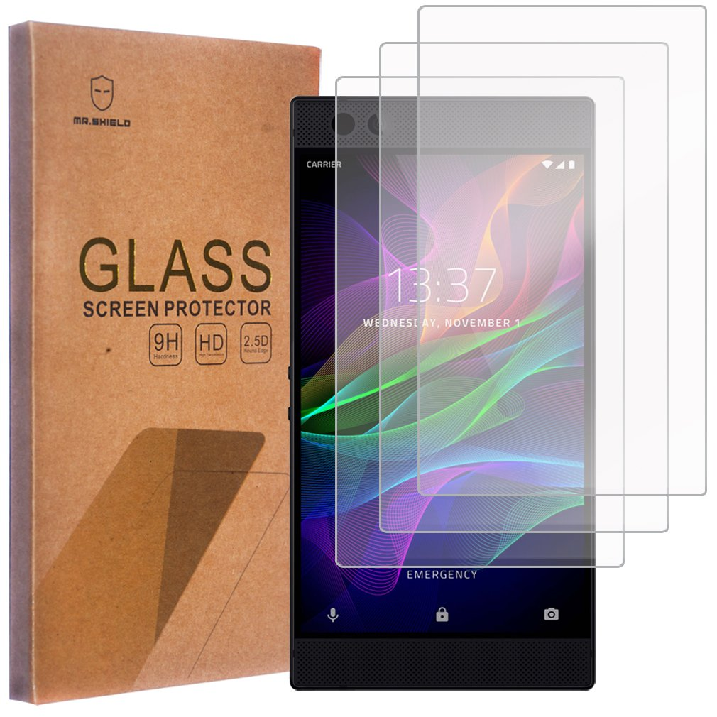 [3-PACK]-Mr Shield For Razer Phone [Tempered Glass] Screen Protector