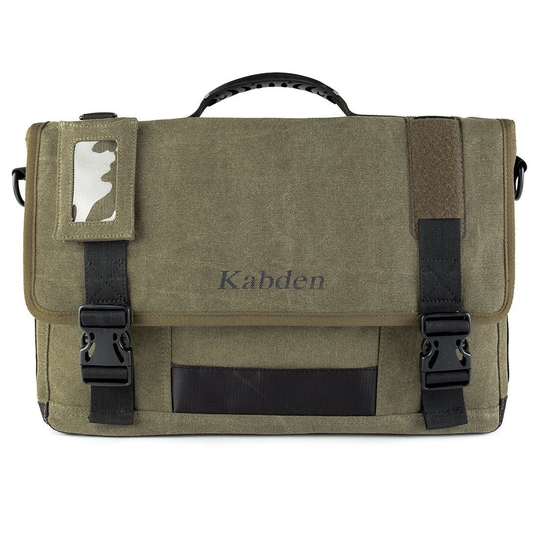 Anstorematealliance outdoor Bags アウトドアバッグ多機能キャンバスメッセンジャーラップトップバッグクロスボディショルダービジネスブリーフケースタブレットバッグハンドバッグ、サイズ:29x44x8.5cm(アーミーグリーン) B07RZ7749K Army Green