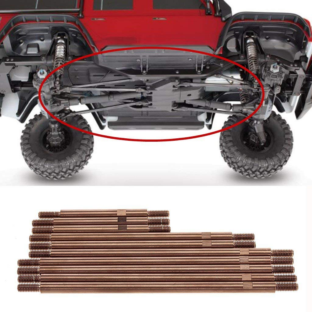 Tubayia 10 St/ück Edelstahl Spurstange Pull Rod Bar Upgrade Teile Zubeh/ör f/ür 1//10 RC Auto Traxxas TRX-4 TRX4