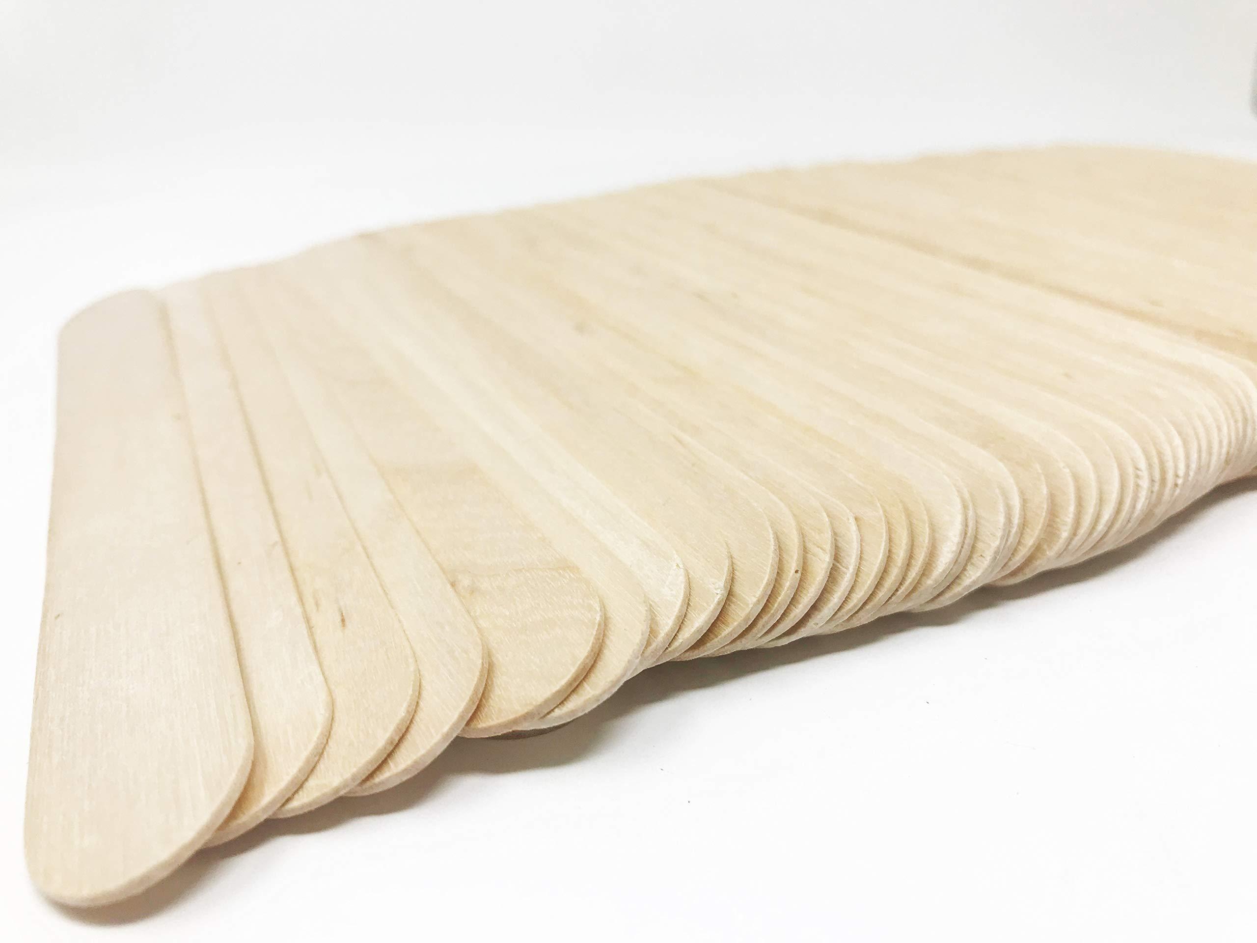 Tongue Depressors Non-STERILE Standard Size 6''x0.75'', Premium Natural Birch Wood Craft Sticks (2500 PCS (5 BX)) by Starryshine (Image #2)