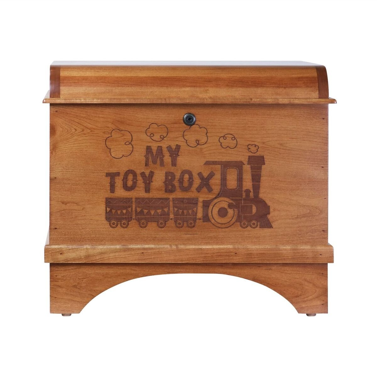 Toy Box Storage Hope Chest for Children's Birthday gift ideas for Daughter Son Boys and Girls, and Grandchildren Made of Cherry with lock Made in USA By Rooms Organized (My Toy Box)