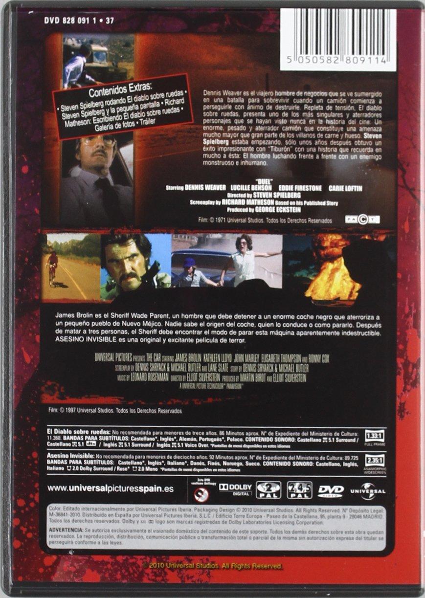 El Diablo Sobre Ruedas + Asesino Invisible: Colección Cine de Te DVD: Amazon.es: Dennis Weaver, Jacqueline Scott, Eddie Firestone, Lou Frizzell, ...