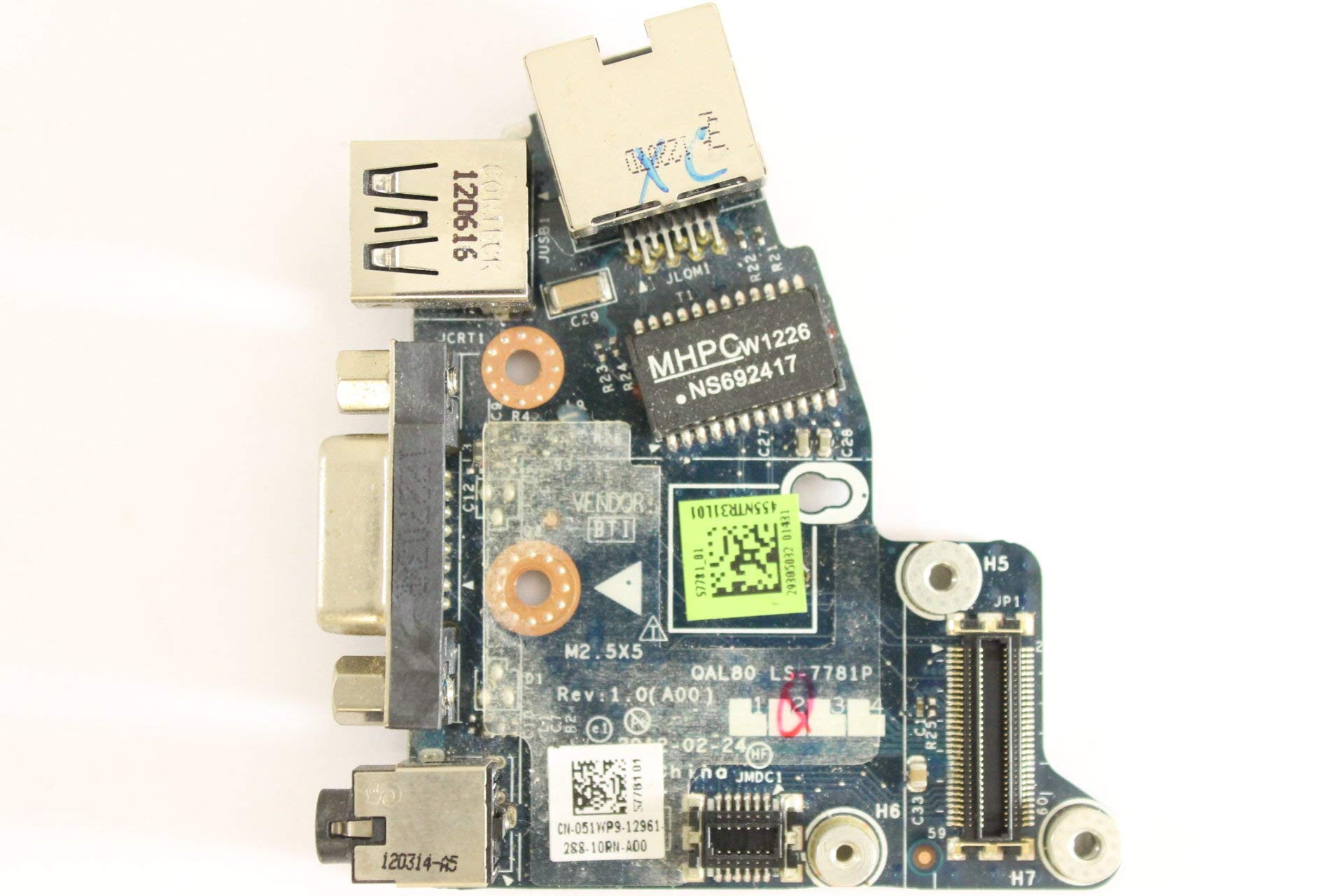 Dell Latitude E6430 51WP9 Audio Ethernet USB VGA Modem Board LS-7781P (Certified Refurbished) by Dell (Image #1)