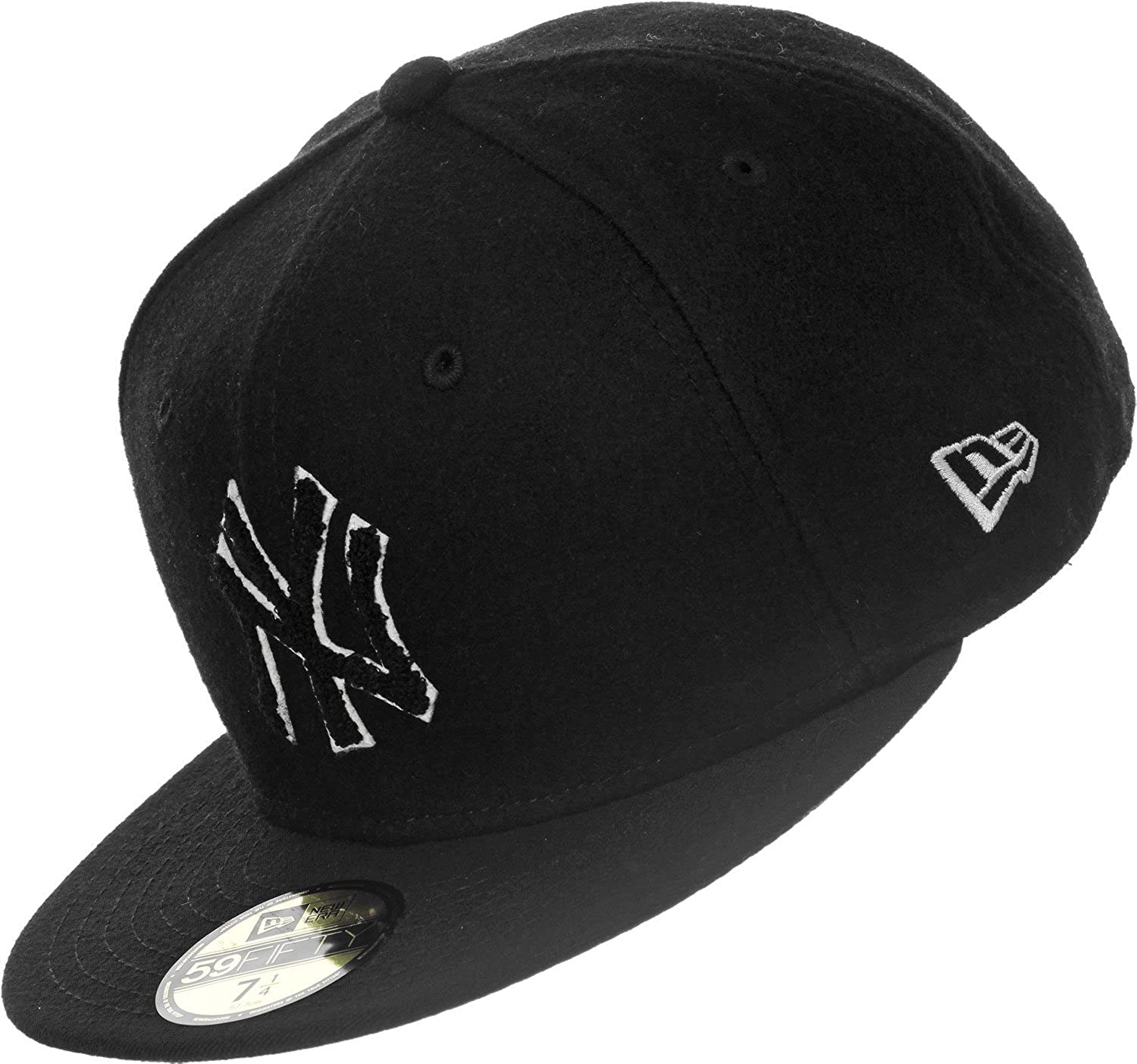 New Era Black-Optic White New York Yankees Team Melton Fitted Cap  New Era   Amazon.co.uk  Clothing aa4b16c820a0