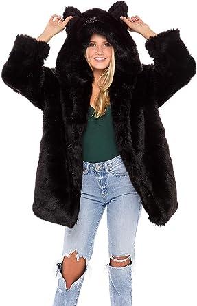 Women/'s Overcoat Garment 100/% Real Chic Gift Rabbit Fur Short Coat Jacket