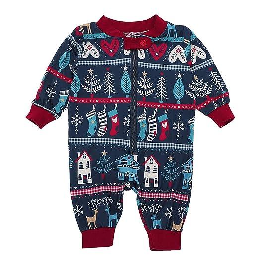 5894dcfff Amazon.com: Christmas Kids Romper,Fineser Newborn Baby Girls Boys Christmas  Tree Deer Romper Playsuit Family Pajamas Sleepwear 3-18M: Clothing