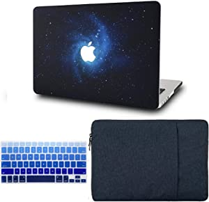 "KECC Laptop Case for MacBook Air 13"" Retina (2020, Touch ID) w/Keyboard Cover + Sleeve Plastic Hard Shell Case A2179 3 in 1 Bundle (Blue)"