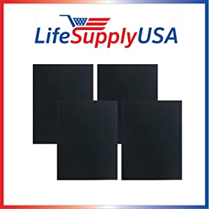 LifeSupplyUSA 4 Pack Carbon Replacement Filters Compatible with Winix 115115 Size 21