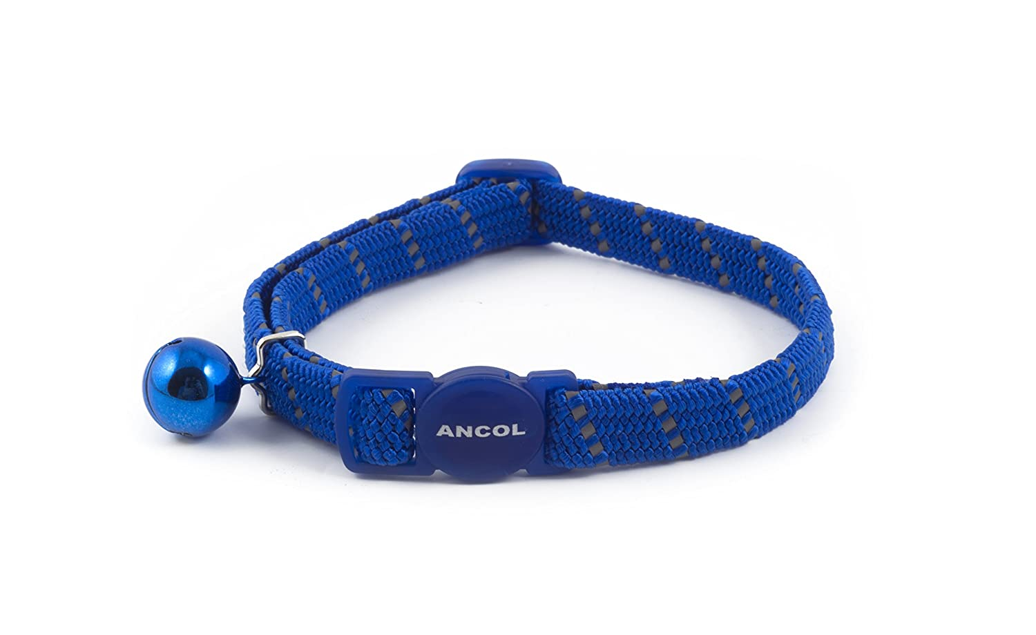 (2 Pack) Ancol - Reflective Softweave Cat Collar Blue SHOM53474