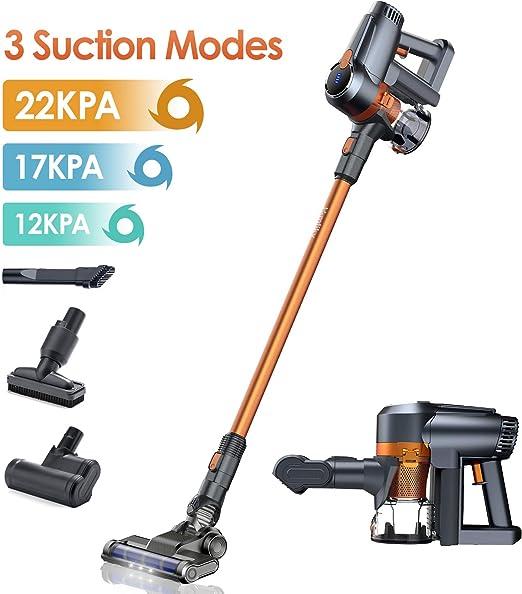 Homtiky Aspiradora sin Cable, Aspirador sin Cable 22000Pa Poderosa ...