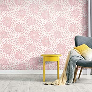 RoomMates Toss The Bouquet Pink Peel and Stick Wallpaper   Removable Wallpaper   Self Adhesive Wallpaper