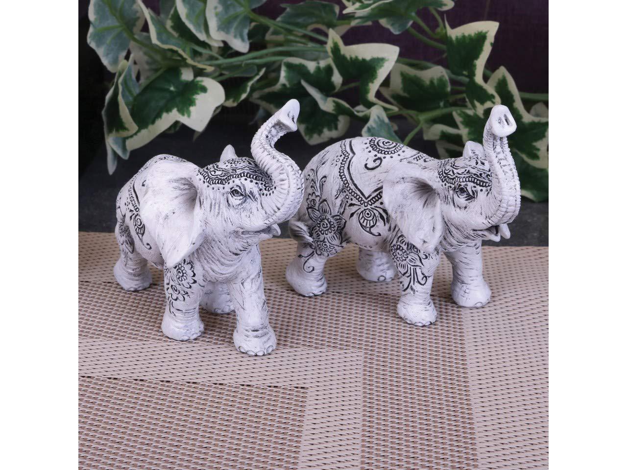 Figura Decorativa de Elefante Nemesis Now Henna Harmony Juego de 2, 9,5 cm