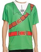 Nintendo Legend of Zelda Link Costume T-Shirt FrontBack Design Ocarina of Time For Adults great for Halloween