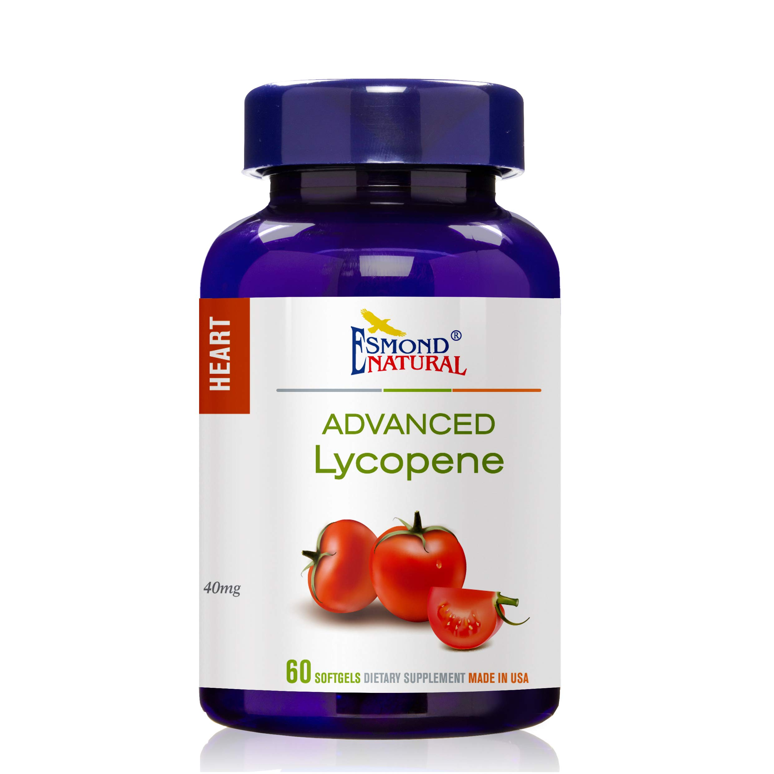 Esmond Natural: Advanced Lycopene (Supports Prostate and Hearth Health) 40mg, 60 softgels by Esmond Natural